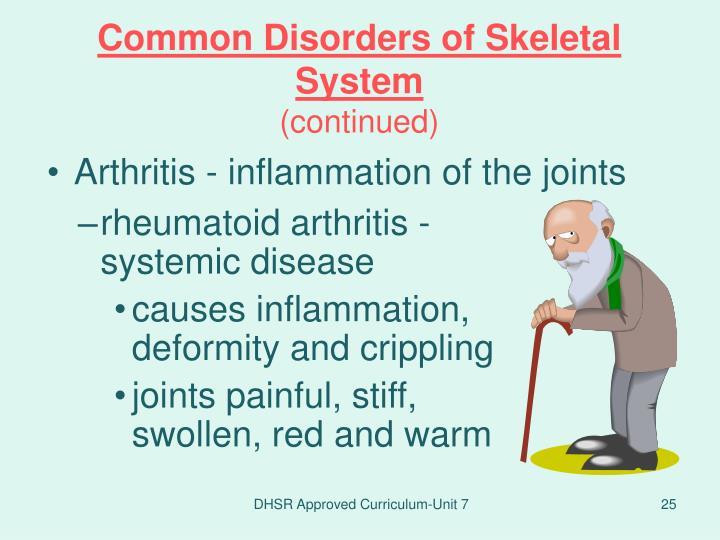 rheumatoid arthritis - systemic disease