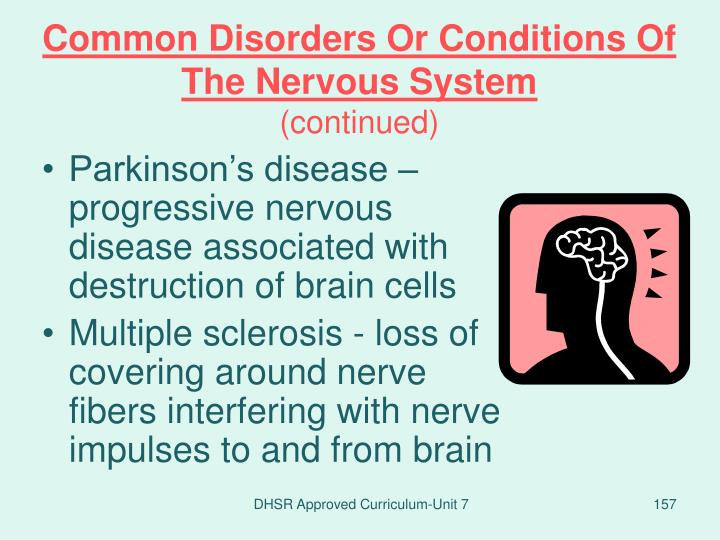 Common Disorders Or Conditions Of The Nervous System