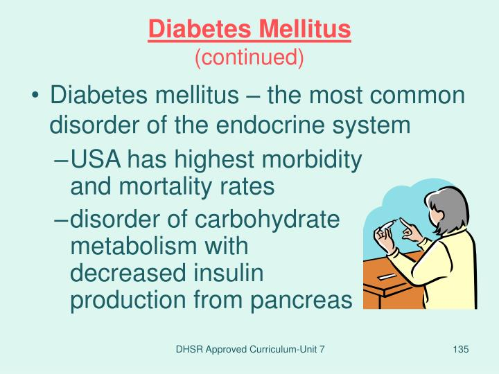 Diabetes mellitus – the most common disorder of the endocrine system