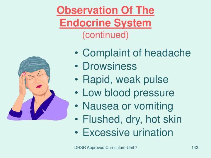 Complaint of headache