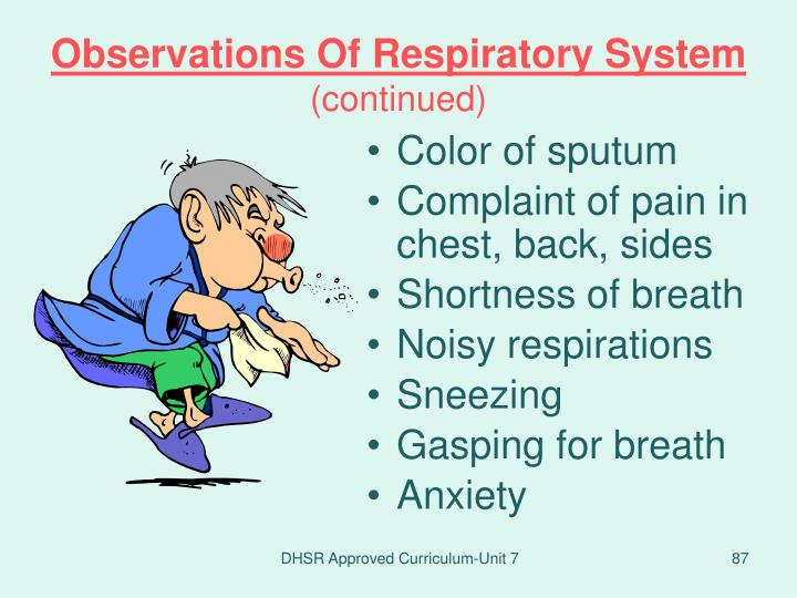 Observations Of Respiratory System