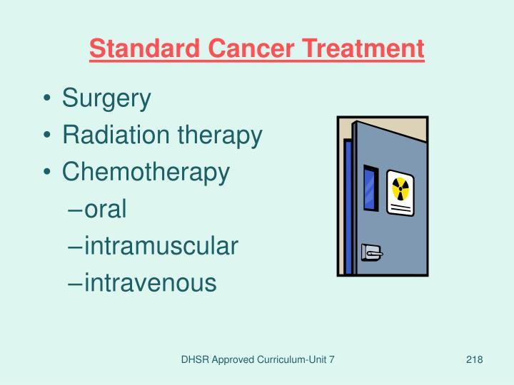 Standard Cancer Treatment