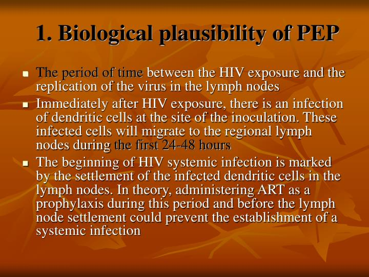 1. Biological plausibility of PEP
