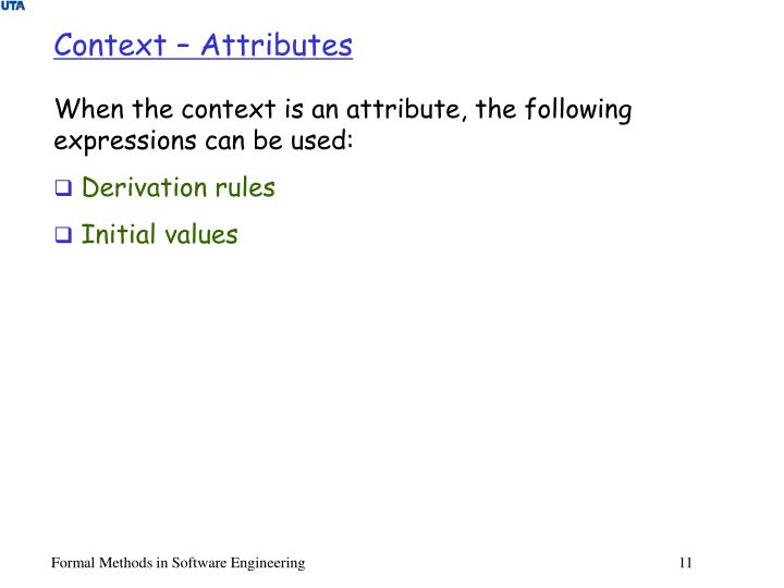 Context – Attributes