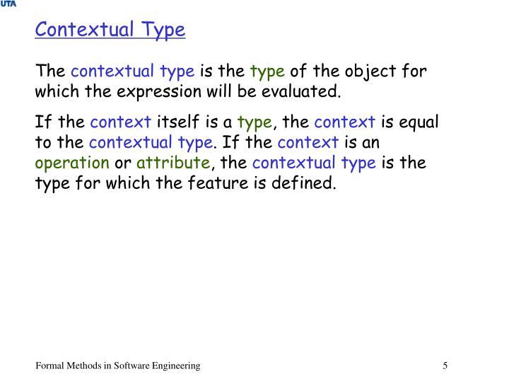 Contextual Type