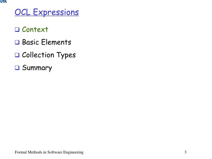 OCL Expressions
