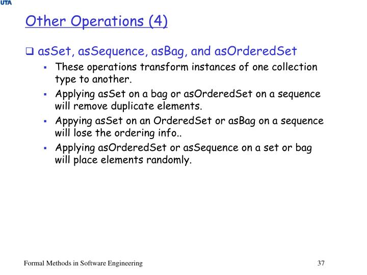 Other Operations (4)