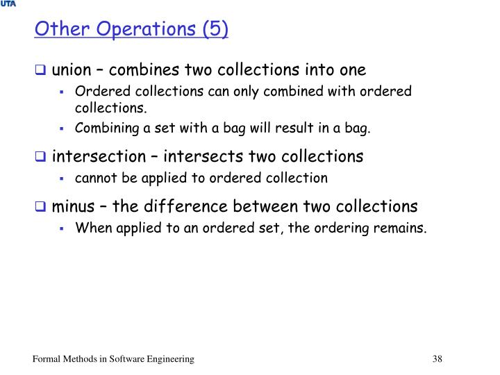 Other Operations (5)