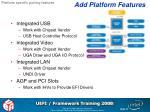 add platform features