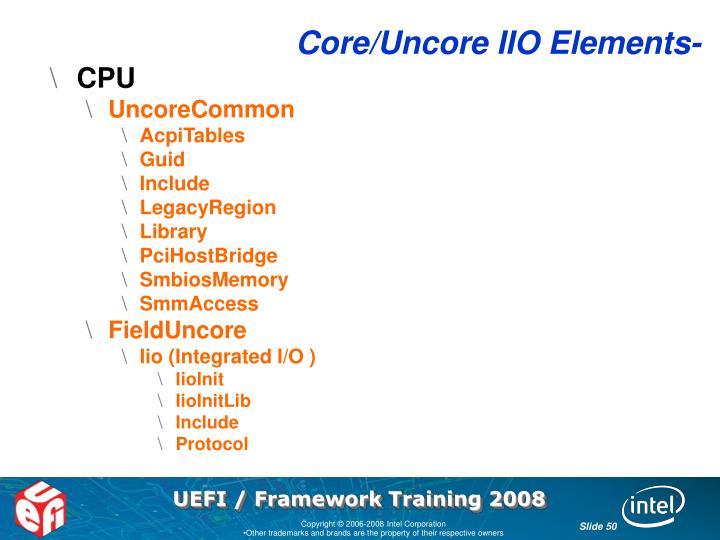 Core/Uncore IIO Elements-