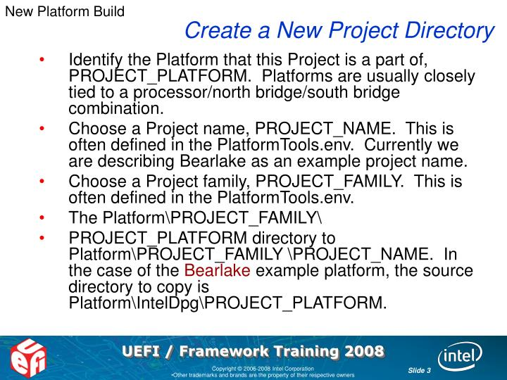 New Platform Build