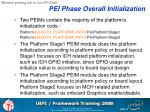 pei phase overall initialization
