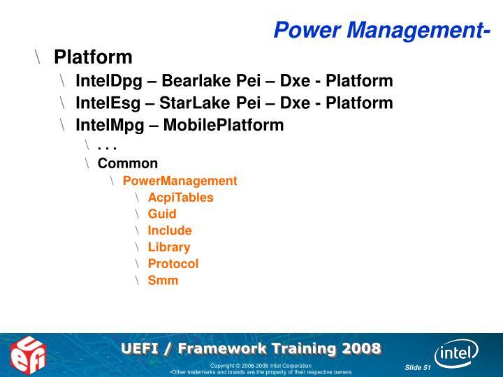 Power Management-
