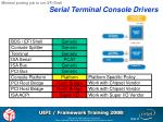 serial terminal console drivers