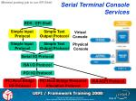 serial terminal console services