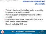 what are architectural protocols