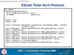 xscale timer arch protocol