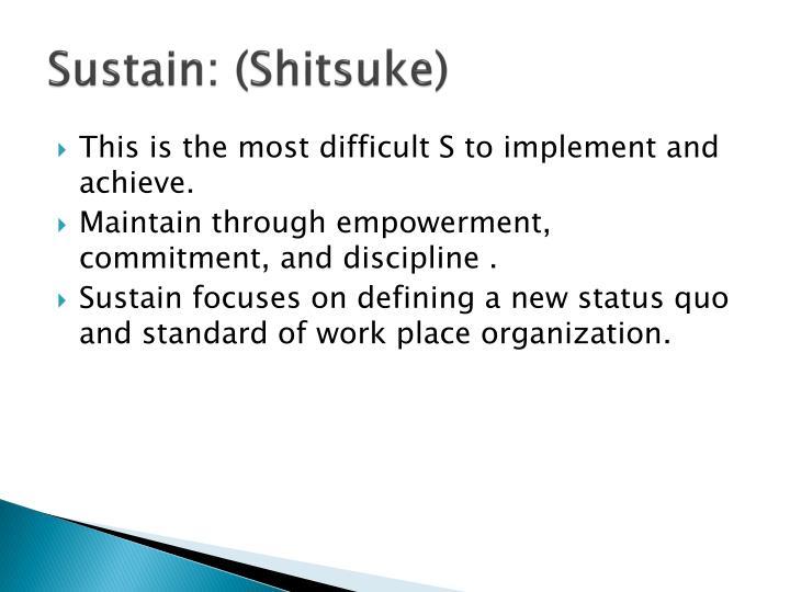Sustain: (Shitsuke)