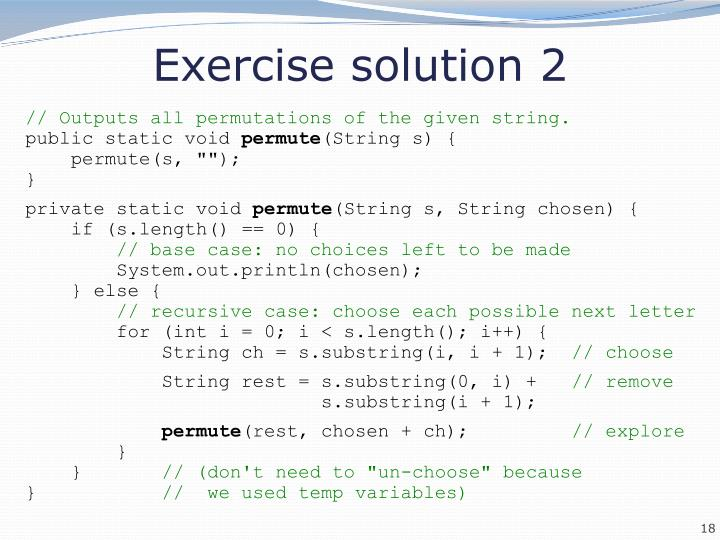 Exercise solution 2