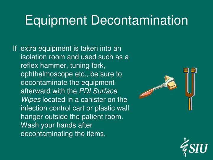 Equipment Decontamination