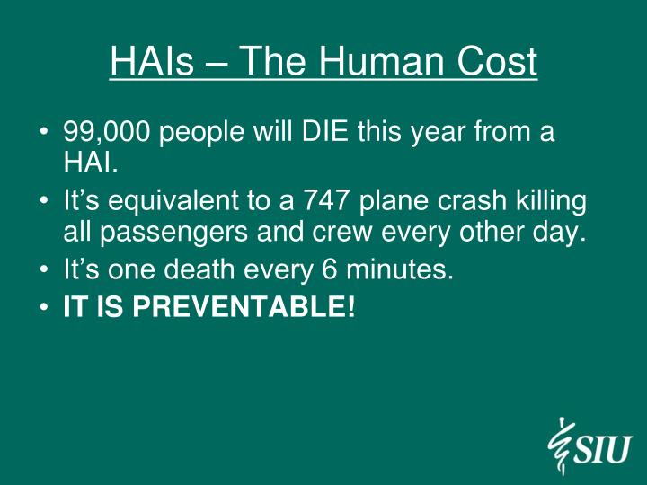 HAIs – The Human Cost