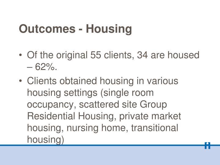 Outcomes - Housing