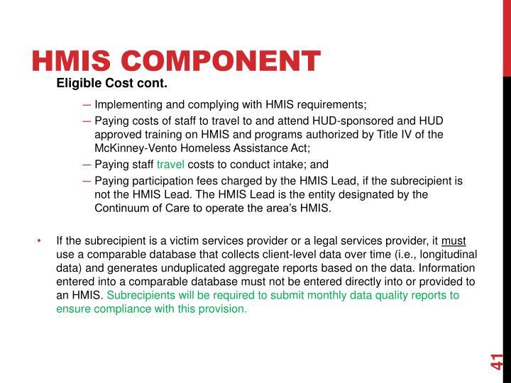 HMIS Component