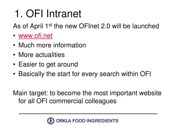 1. OFI Intranet