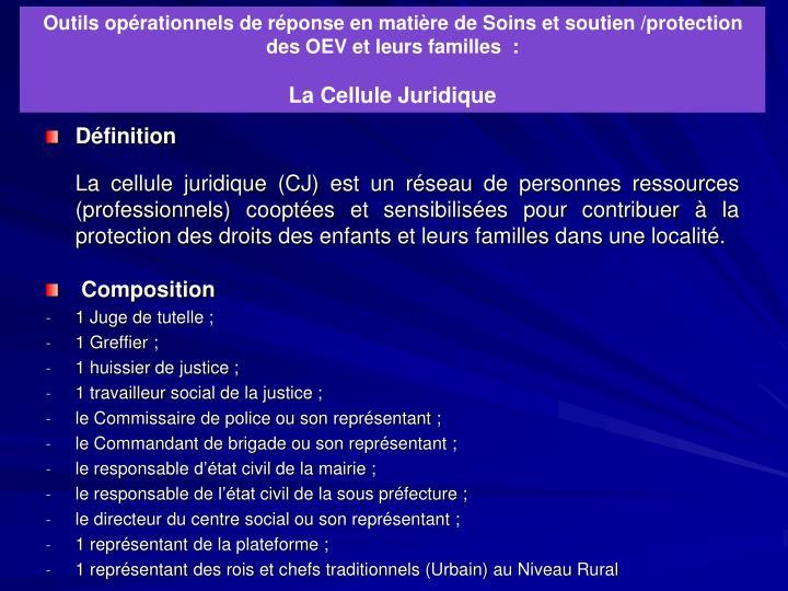 Outils opérationnels de réponse en matière de Soins et soutien /protection des OEV et leurs familles  :