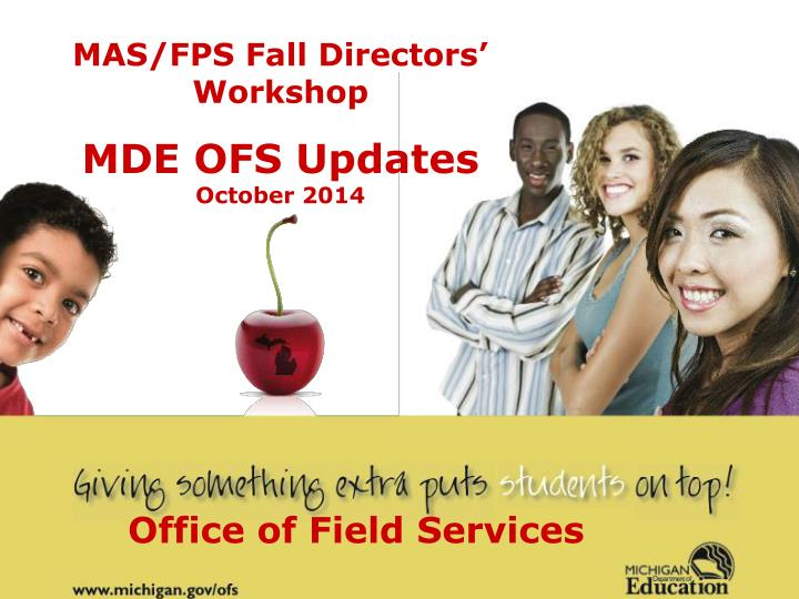 MAS/FPS Fall Directors' Workshop
