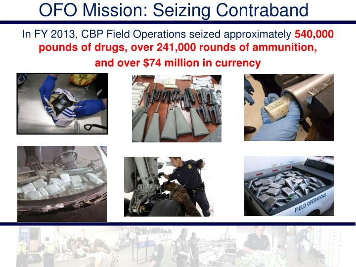 OFO Mission: Seizing Contraband