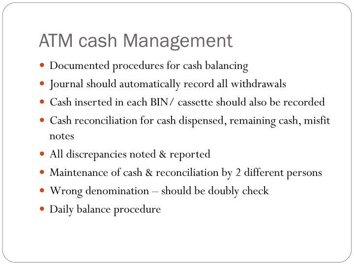 ATM cash Management