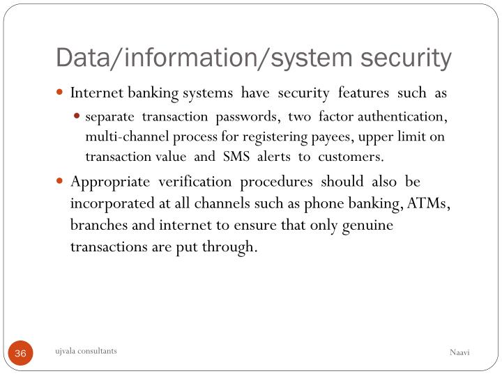 Data/information/system security