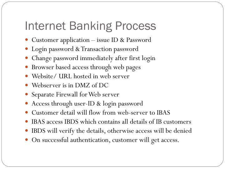 Internet Banking Process