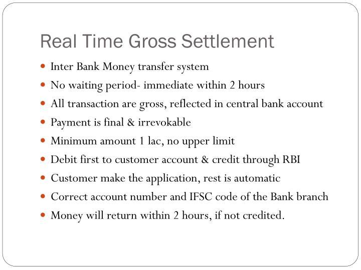 Real Time Gross Settlement