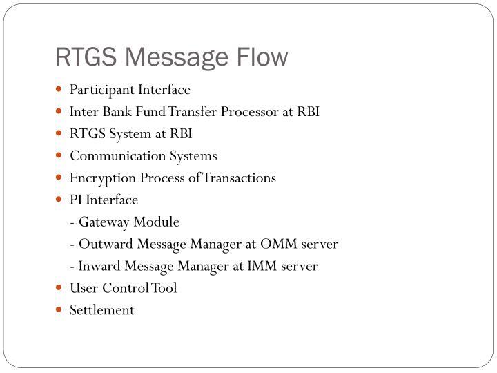 RTGS Message Flow