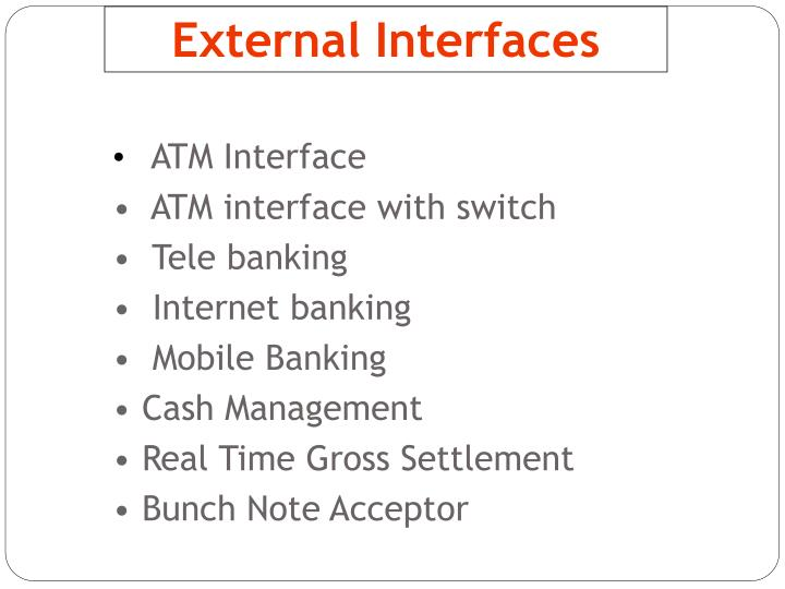 External Interfaces