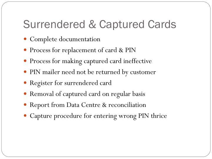 Surrendered & Captured Cards