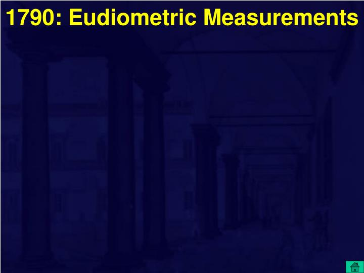 1790: Eudiometric Measurements