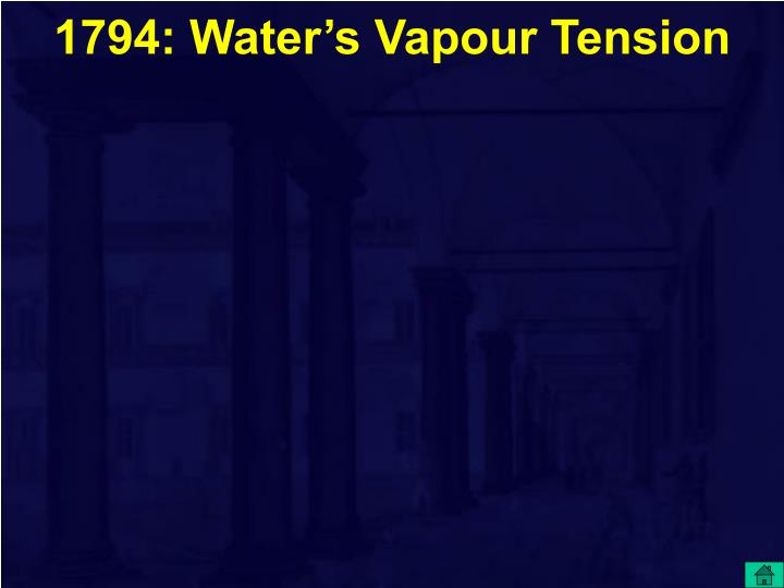 1794: Water's Vapour Tension
