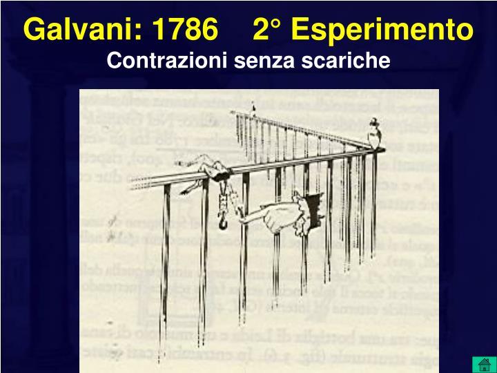 Galvani: 1786    2° Esperimento