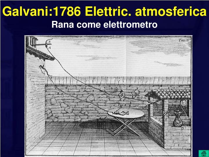 Galvani:1786 Elettric. atmosferica