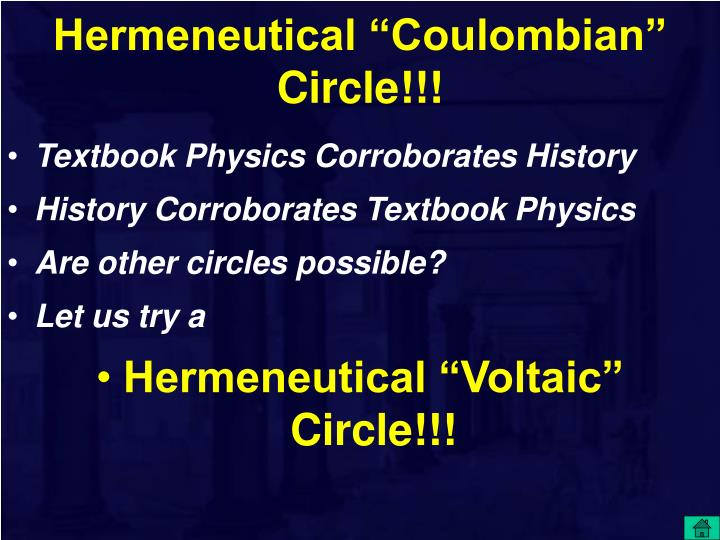 "Hermeneutical ""Coulombian"" Circle!!!"