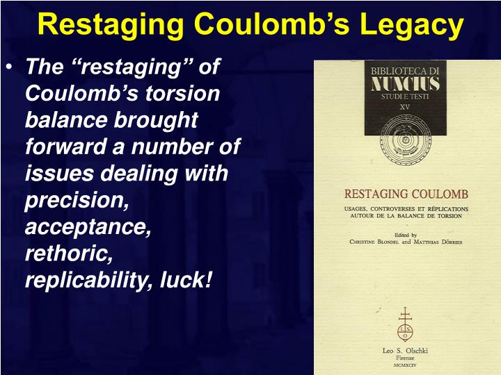Restaging coulomb s legacy