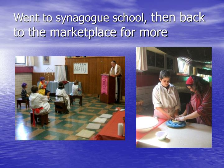 Went to synagogue school,
