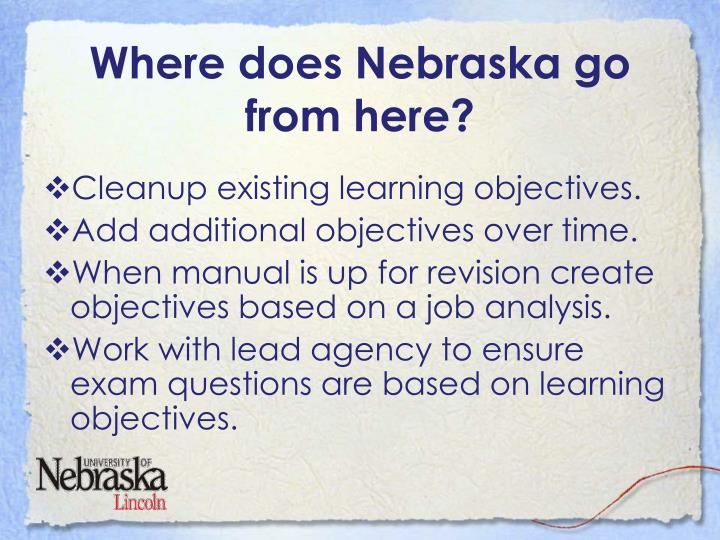 Where does Nebraska go from here?