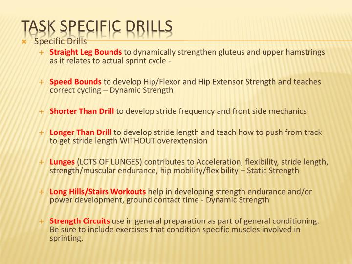 Specific Drills