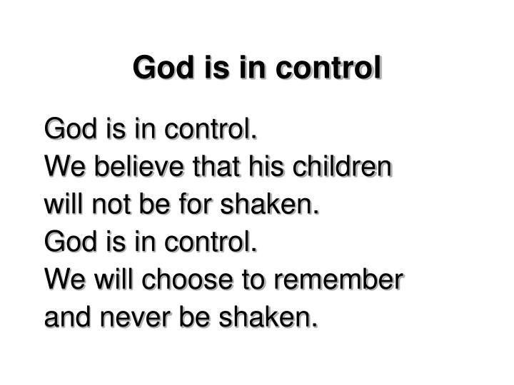 God is in control2