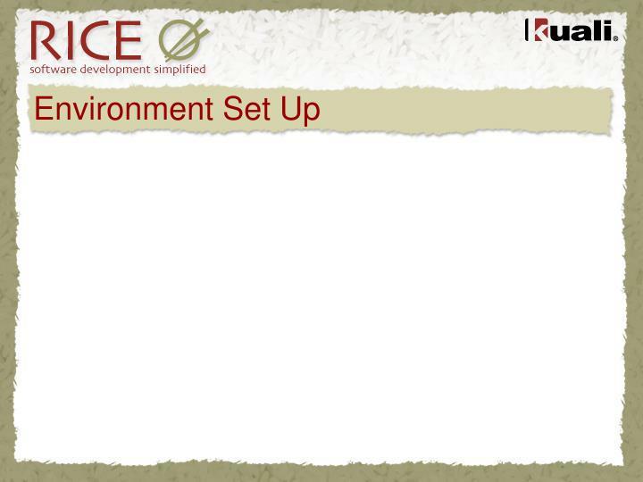 Environment Set Up