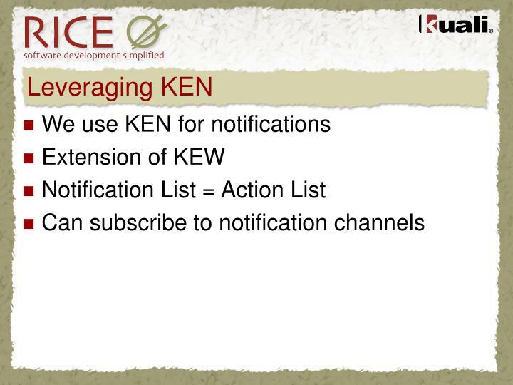 Leveraging KEN